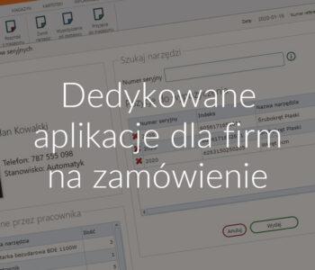 Dedykowane aplikacje dla firm na zamówienie