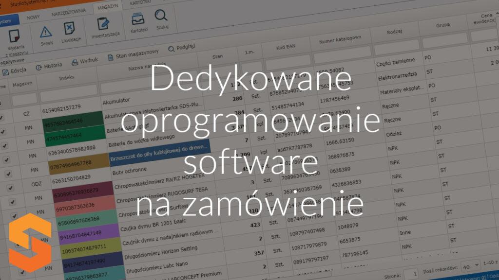 Dedykowane oprogramowanie software na zamówienie