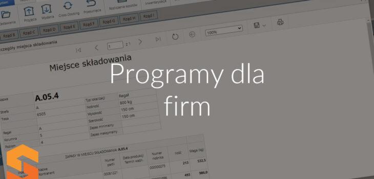 Programy dla firm