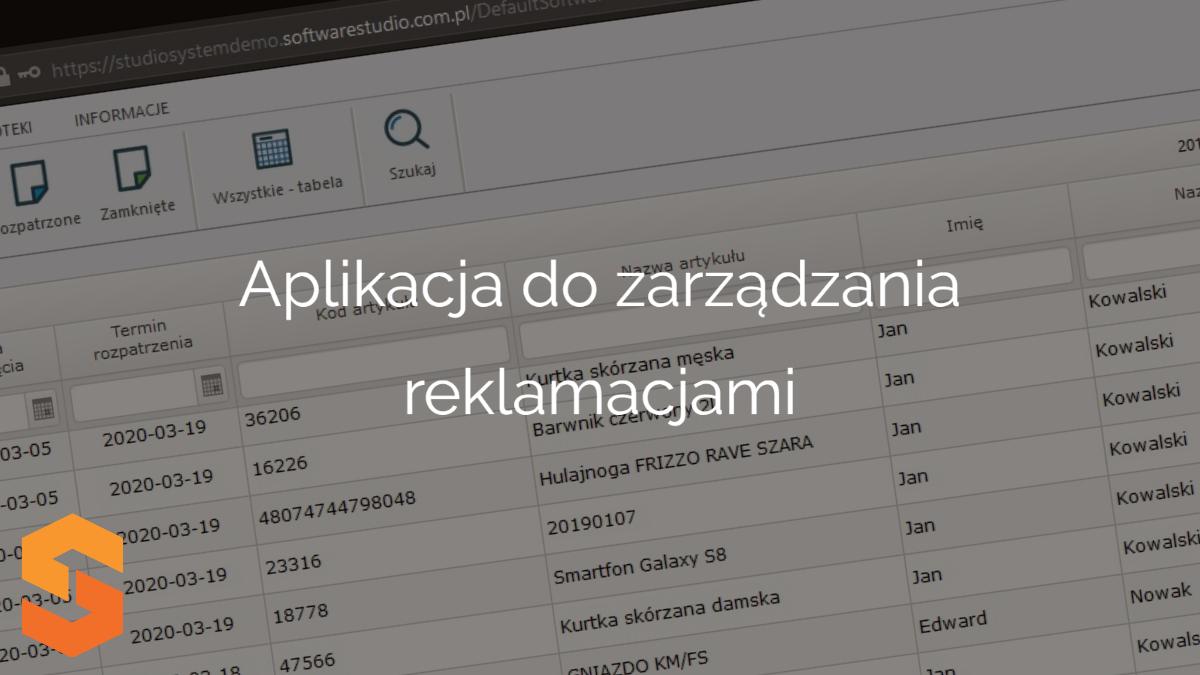 system rma,aplikacja do zarządzania reklamacjami