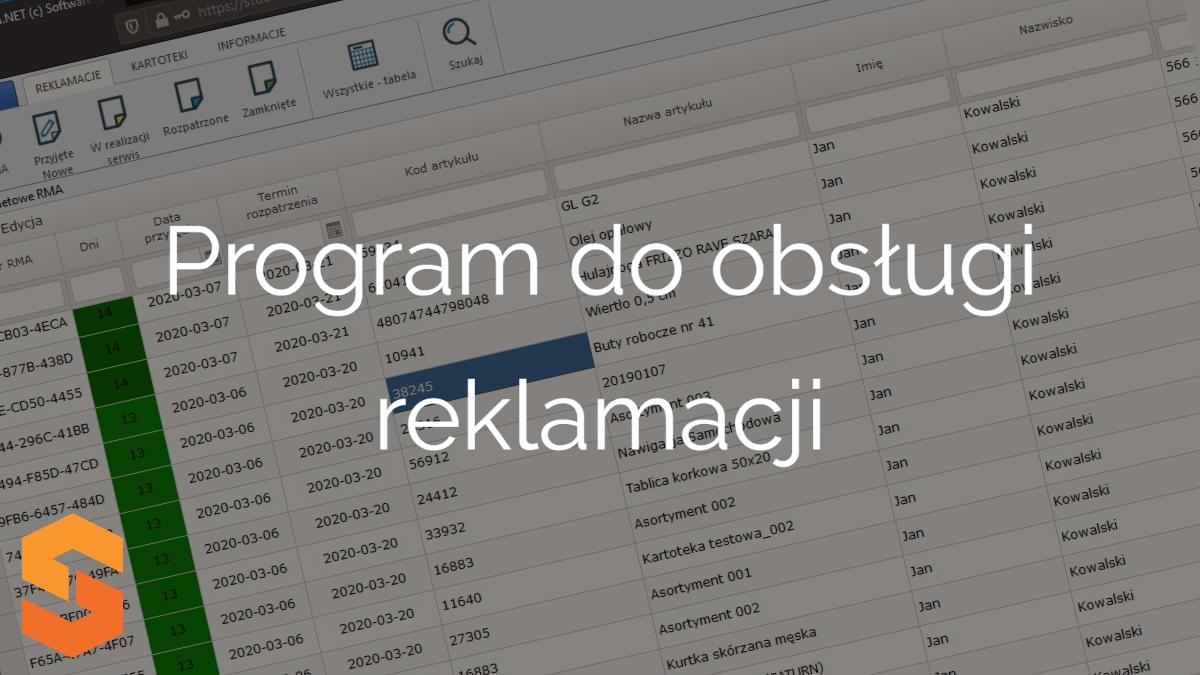 system rma online,program do obsługi reklamacji
