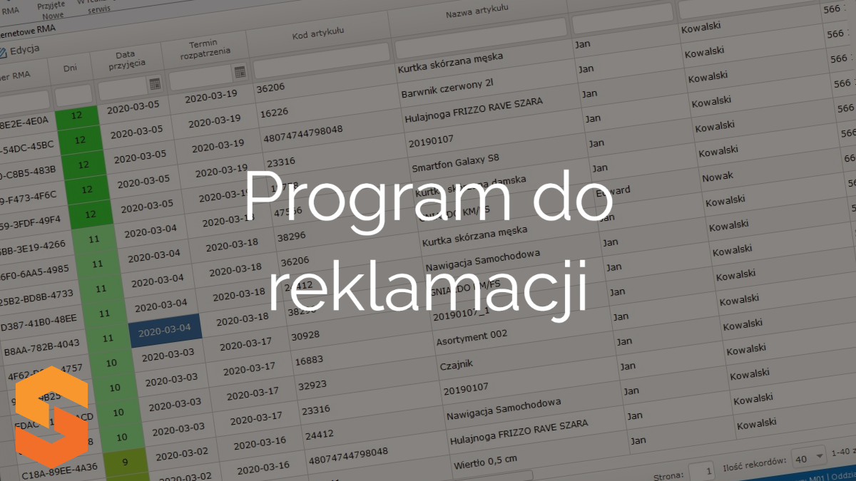 system-rma,program do reklamacji